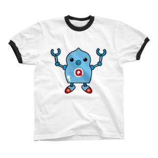 ロボQ Ringer T-shirts