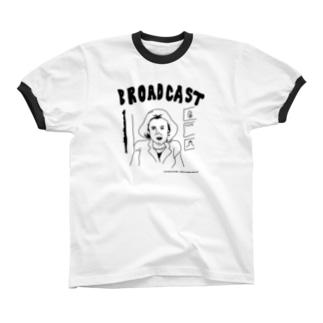 news caster Ringer T-shirts