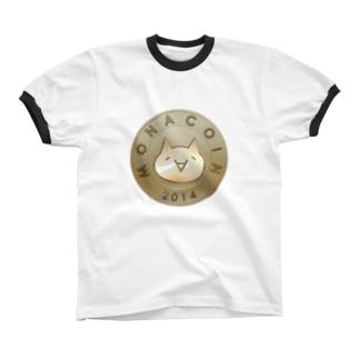 Monacoin(モナコイン) リンガーTシャツ