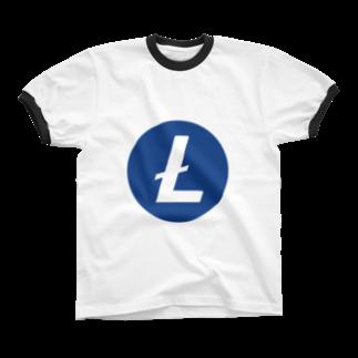 OWLCOIN ショップのLitecoin ライトコイン Ringer T-shirts