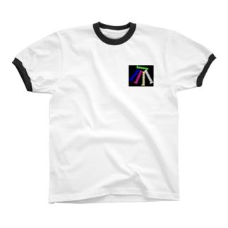 banana文字柄 Ringer T-shirts