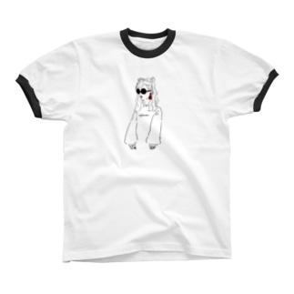 シマちゃん Ringer T-shirts