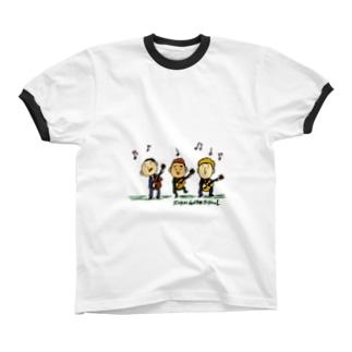 ギタートリオ カラー Ringer T-shirts