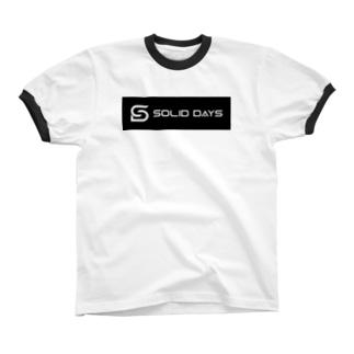 SOLID DAYS 2019 ボックスロゴ Ringer T-shirts