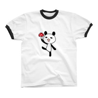 きのこパンダ Ringer T-shirts
