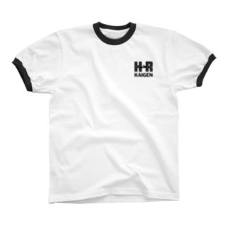 改元ロゴ BLACK Ringer T-shirts