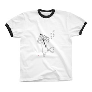 傘化けとだんすだんす Ringer T-shirts