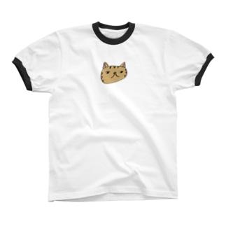 とらねこ Ringer T-shirts