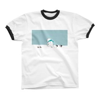 雪の日 Ringer T-shirts