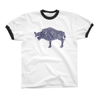 亥 Ringer T-shirts