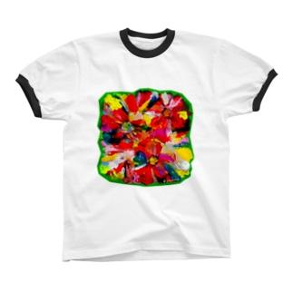 恋のなか Ringer T-shirts