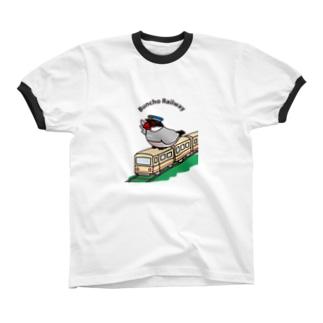 文鳥鉄道・桜文鳥 Ringer T-shirts