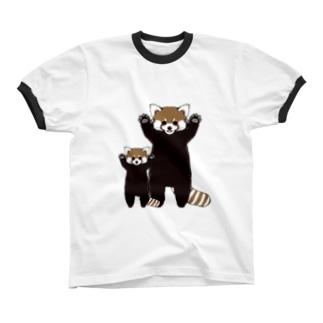 レッサーパンダ息子も参戦 Ringer T-shirts