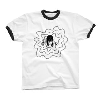 悩めるおにゃのこ Ringer T-shirts