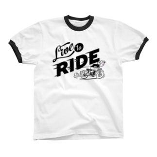 LIVE TO RIDE Ringer T-shirts