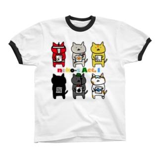 neko-s Act.1 Ringer T-shirts
