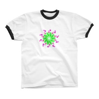 バード Ringer T-shirts