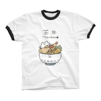 天丼 Ringer T-shirts