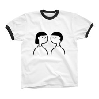 だんじょ Ringer T-shirts