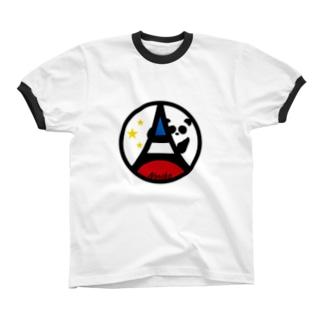 パ紋No.3377 Noriko Ringer T-shirts
