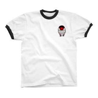 ノーマル文鳥 Ringer T-shirts