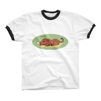 ぐうぐうケイちゃん Ringer T-shirts