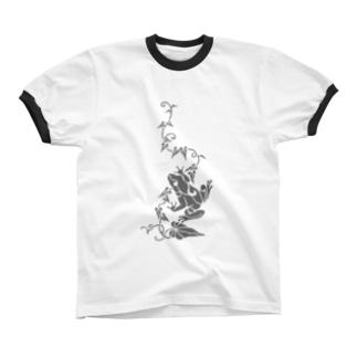 蔦とかえる リンガーTシャツ