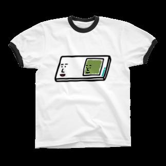 うえたに夫婦のキャラNo.57プレパラートくん(スライドガラスとカバーガラスくん) Ringer T-shirts