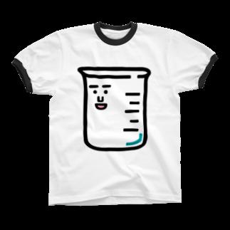 うえたに夫婦のキャラNo.1ビーカーくん Ringer T-shirts