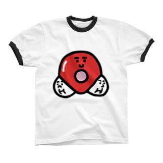 キャラNo. 37H2O分子模型くん  リンガーTシャツ