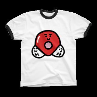 うえたに夫婦のキャラNo. 37H2O分子模型くん  リンガーTシャツ