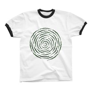 ぐるぐるヘビ リンガーTシャツ