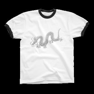 ツバメ堂の天かける龍 リンガーTシャツ