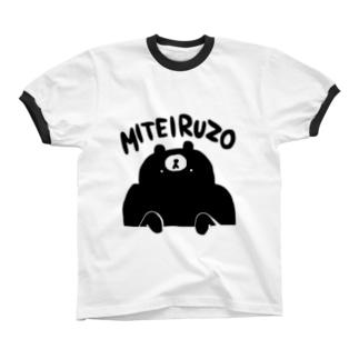 クマ・サピエンス MITEIRU リンガーTシャツ