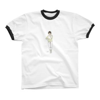 春色に揺れる Ringer T-shirts