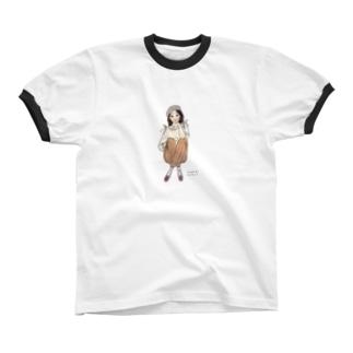 きみが澄ますと秋がささやく Ringer T-shirts