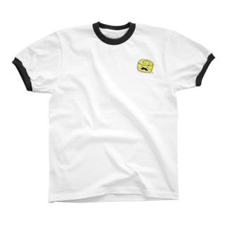 だしまきヒゲたまご リンガーTシャツ