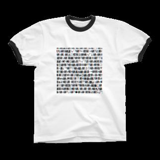 レオナのMojibake(Cyberpunk mix) リンガーTシャツ