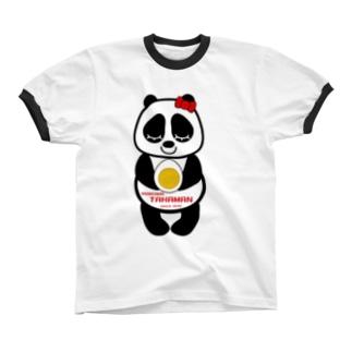 パンダちゃん リンガーTシャツ