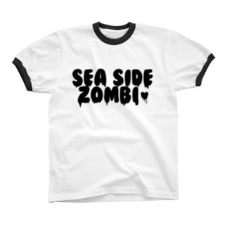 SEA SIDE ZOMBIE リンガーTシャツ