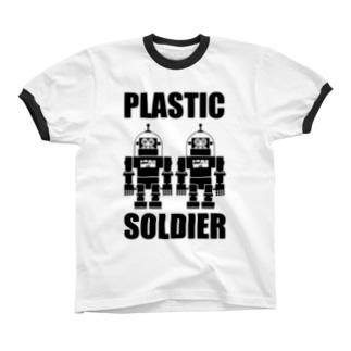 PLASTIC SOLDIER リンガーTシャツ