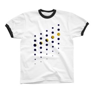 ツキノミチカケ リンガーTシャツ