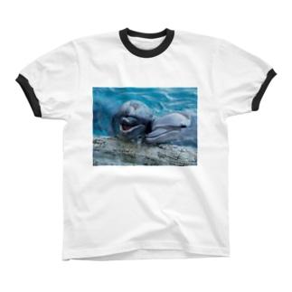 イルカ~ベストフレンド Ringer T-shirts