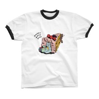 ドキドキ Ringer T-shirts