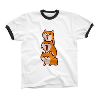 クソハムトリオ Ringer T-shirts