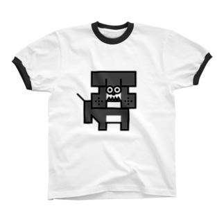 bulldog リンガーTシャツ