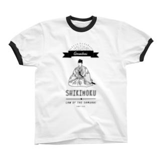 御成敗式目 Ringer T-shirts
