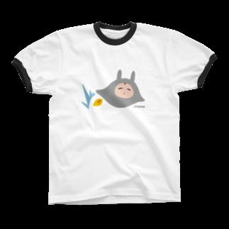 やるきないお店のとぶやるきないもの Ringer T-shirts