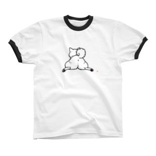 柴尻(黒線) リンガーTシャツ