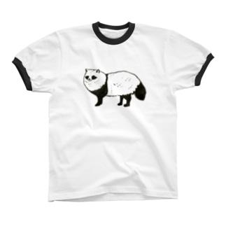 パンダっぽいたぬき リンガーTシャツ